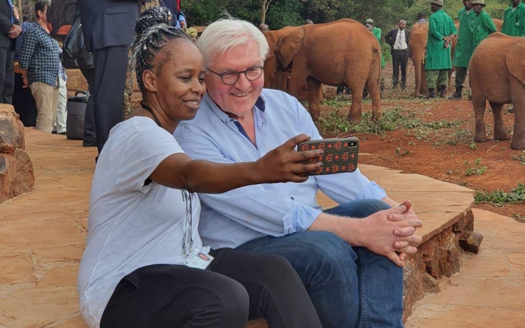 elefanten kenya nationalpark bundespräsident walter steinmeier